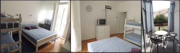 Budva -dvosoban stan za max 6 osoba, I proleterska broj 5, ispod Sportskog Centra
