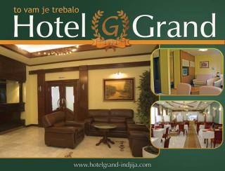 Hoteli smeštaj, Inđija, Hotel GRAND je smesten u samom centru Indjije, u ulici Vojvode Stepe br. 1.