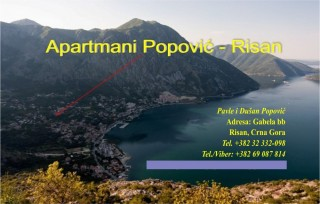 Apartmani smeštaj, Risan, Ulica Gabela b.b. Risan Boka Kotorska Crna Gora