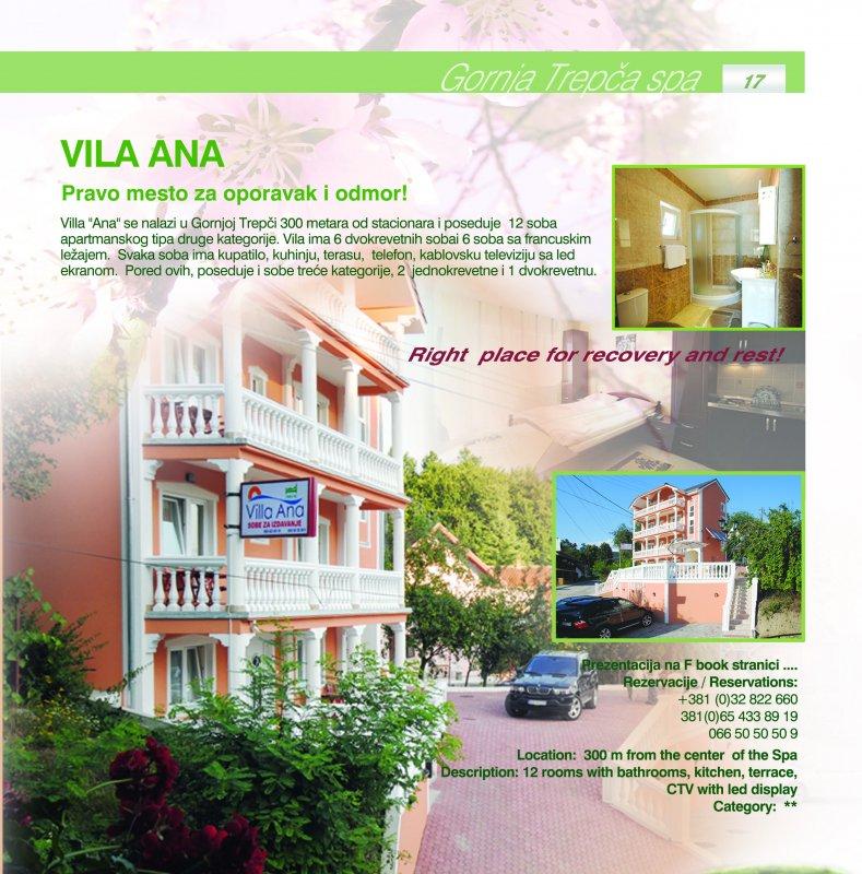 Villa Ana, Atomska Banja- Gornja Trepca